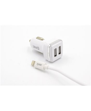 Car charger Lightning 2.4A - Wit (8719273234907)
