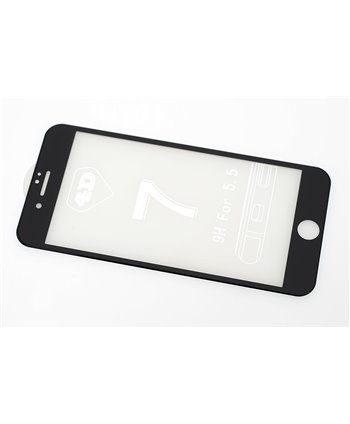 Glas screenprotector H9 4D voor Apple iPhone 7 Plus - Zwart (8719273251614)