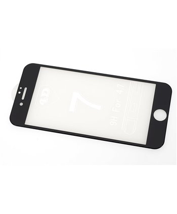 Glas screenprotector H9 4D voor Apple iPhone 7 - Zwart (8719273251577)