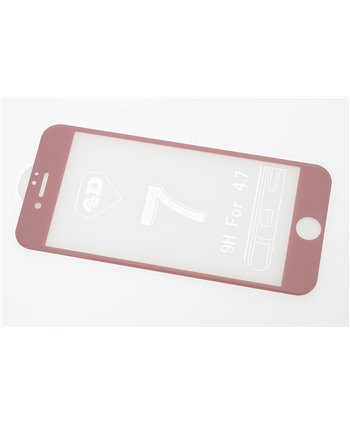 Glas screenprotector H9 4D voor Apple iPhone 7 - Rose Gold (8719273251591)
