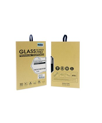 Glas screenprotector NANO iPhone X - Transparant (8719273265987 )