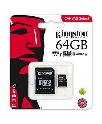 Kingston Micro SD 64 GB Geheugenkaart - class 10