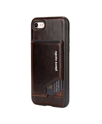 Pierre Cardin silicone backcover voor iPhone 7/8 Plus - D Bruin