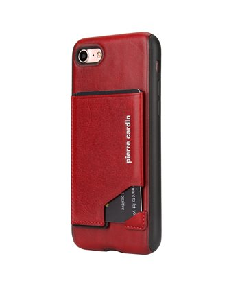 Pierre Cardin silicone backcover voor iPhone 7/8 Plus - Rood