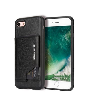 Pierre Cardin silicone backcover voor iPhone 7/8 Plus - Zwart
