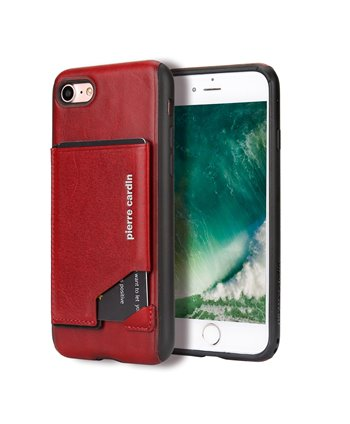Pierre Cardin silicone backcover voor iPhone 7/8 - Rood