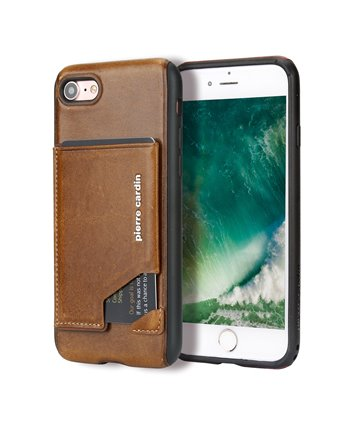 Pierre Cardin silicone backcover voor iPhone 7/8 - Bruin
