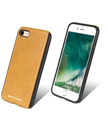 Pierre Cardin silicone backcover voor iPhone 7/8 - Geel