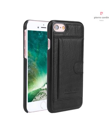Pierre Cardin silicone backcover voor iPhone 7/8 - Zwart