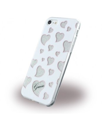 Guess silicone backcover voor iPhone 7/8 - Wit