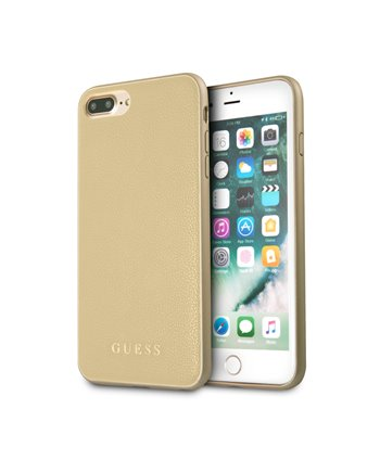 Guess silicone backcover voor iPhone 8 Plus - Goud