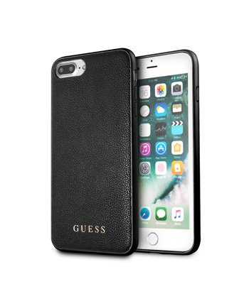 Guess silicone backcover voor iPhone 8 Plus - Zwart