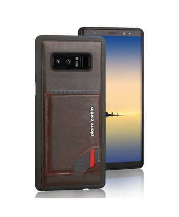 Pierre Cardin silicone backcover voor Note 8 - D Bruin