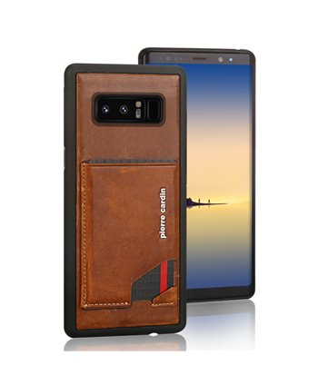 Pierre Cardin silicone backcover voor Note 8 - Bruin