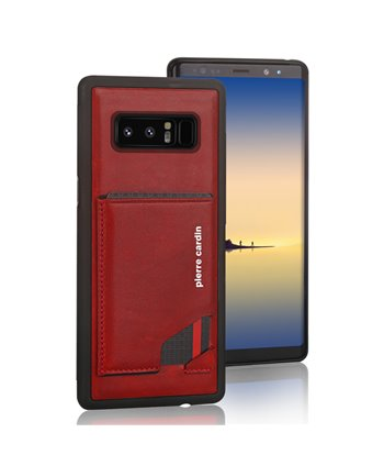 Pierre Cardin silicone backcover voor Note 8 - Rood