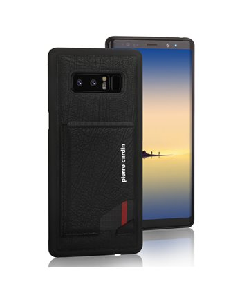 Pierre Cardin silicone backcover voor Note 8 - Zwart